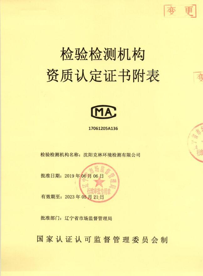 2019CMA资质认定证书